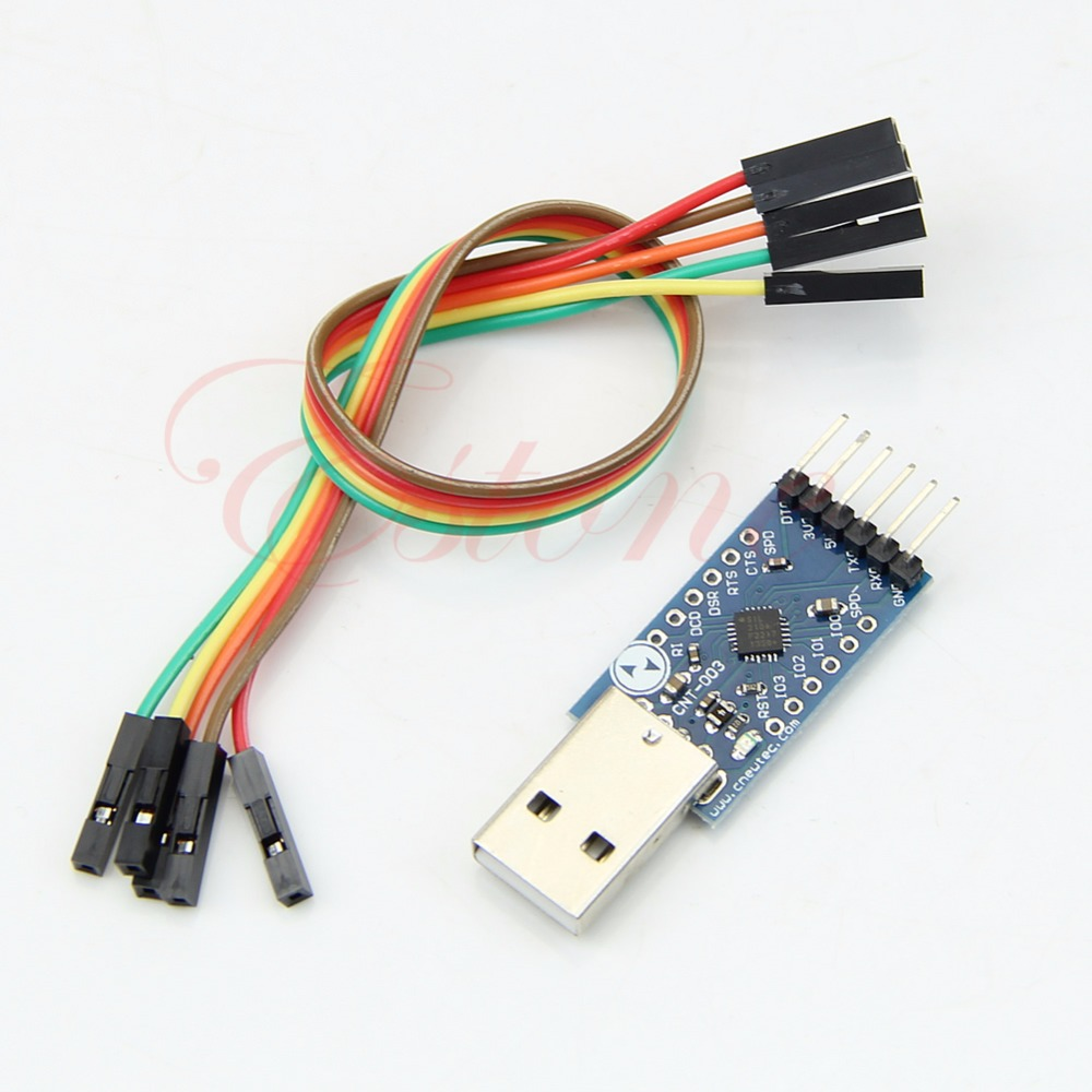OOTDTY STC PRGMR Replace CP2102 USB 2.0 to TTL UART 6PIN Module CP2104 Serial Converter
