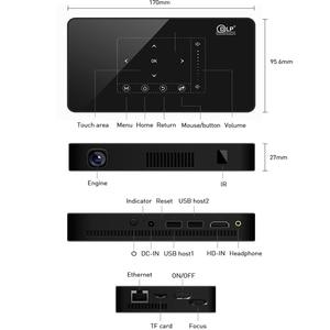 Image 4 - Smartldea P10 미니 스마트 DLP 프로젝터 안드로이드 9.0 wifi 비머 블루투스 4K 내장 배터리 터치 키 Airplay Miracast DLNA