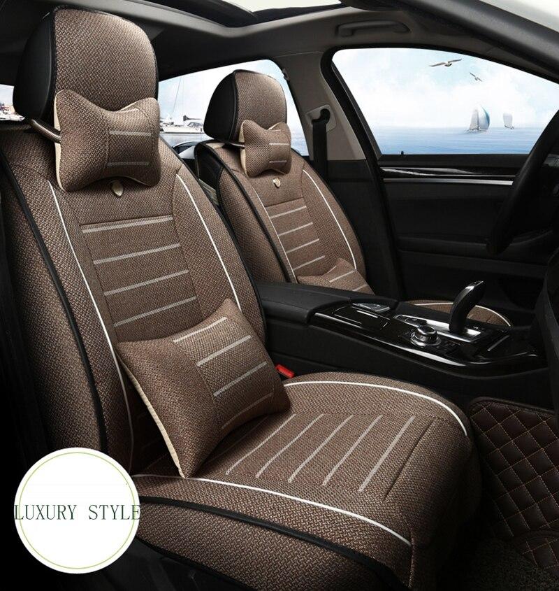 Housse de siège de voiture en tissu de lin pour auto skoda yeti opel insignia renault accessoires d'intérieur housses de siège auto voiture stylin