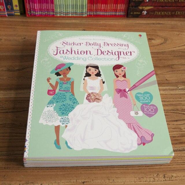 New Super Beautiful Original English Color Sticker Book Girls