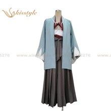 Moda kidstyle hakuouki sanosuke Harada uniforme Cosplay kimono traje de la  ropa 11254db8803c