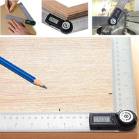 Electronic Protractor Digital Goniometer Angle Finder Miter Gauge Ruler @8 WWO66