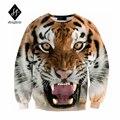 2016 мужские толстовки случайный хип-хоп Теплый 3D печати Тигр животных печати С Капюшоном карман толстовки с капюшоном мужской мужской прилив M015