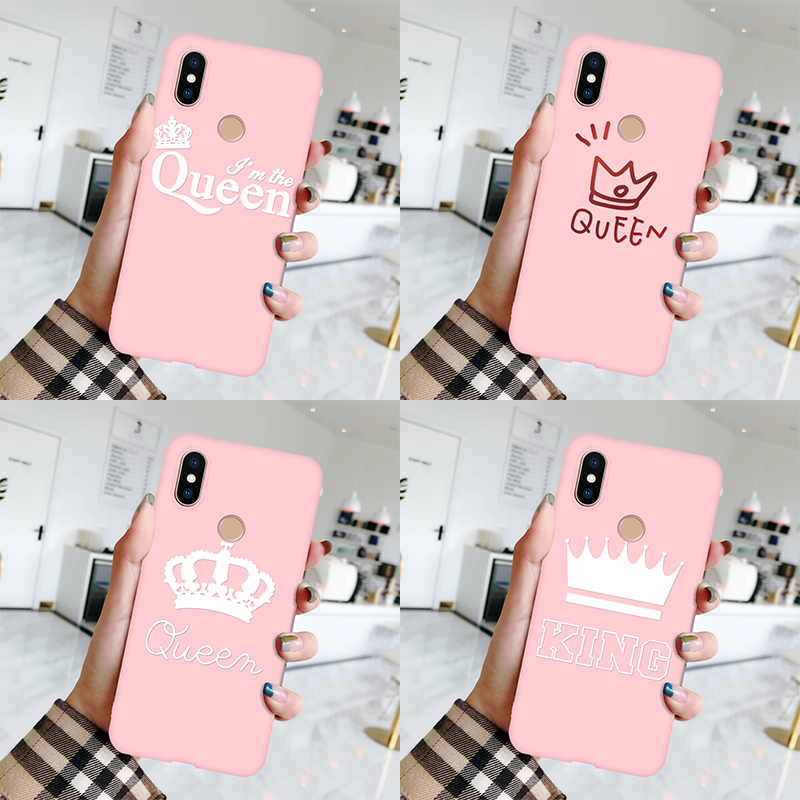 Pink Queen <font><b>TPU</b></font> Fundas For Xiaomi <font><b>Redmi</b></font> 4A <font><b>4X</b></font> 5 Plus 5A 6A S2 <font><b>Note</b></font> 3 <font><b>4X</b></font> 5 6 7 Pro <font><b>Xiomi</b></font> Mi A1 5X A2 6X 8 Lite Mi 9 F1 Luxury <font><b>Case</b></font> image