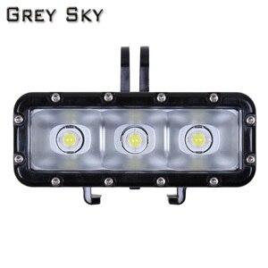 Image 4 - Go Pro nurkowanie latarka lampa LED lampa błyskowa wideo dla GoPro Hero 5 4/3 +,SJCAM SJ4000 sj 4000 Xiaomi Yi 4k 2 akcesoria do kamer
