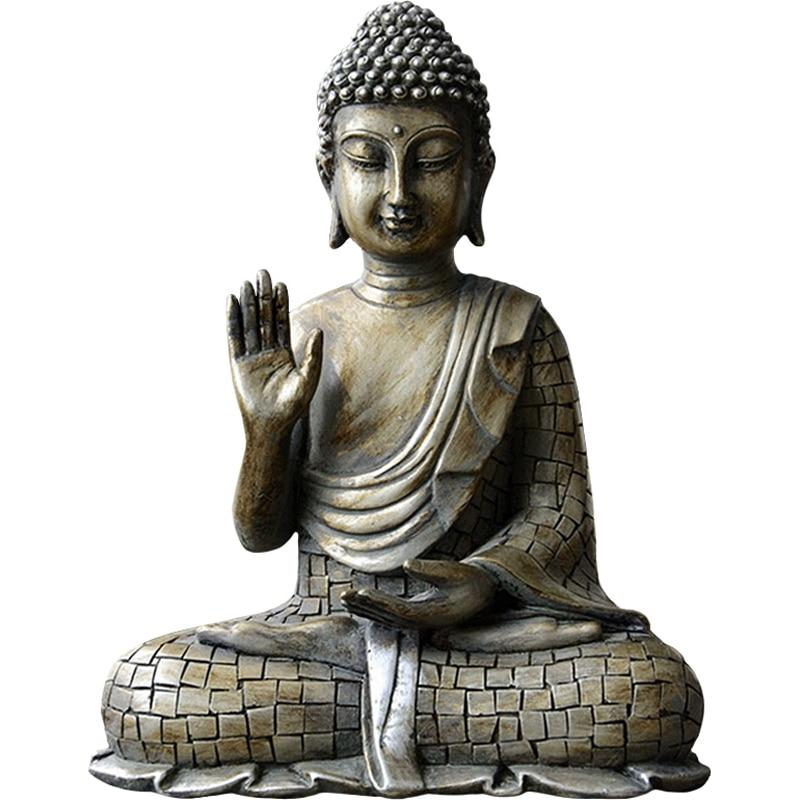 Resin Imitation Bronze Buddhism Bodhisattva Sakyamuni Buddha Statue India Buddha Sculpture Vintage Buddha Head Crafts Decor