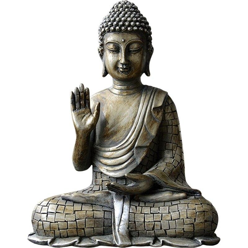 Handcraft Carved Vietnam Agarwood Wood Feng Shui Shakyamuni Buddha Statue UK