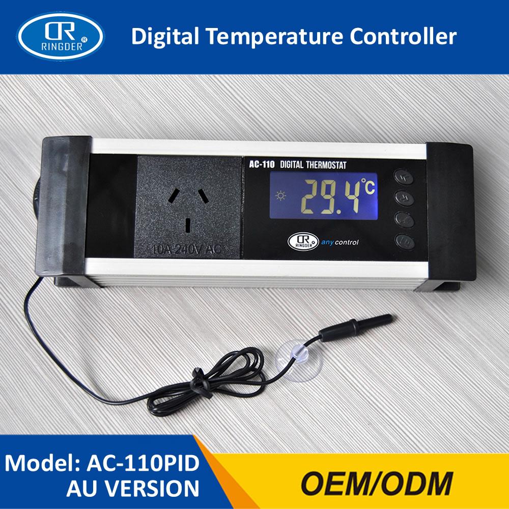 RINGDER AC-110 Digital Reptile Dimming Temperature Thermostat Plup-in PID Regulator Aquarium Dimmable Temperature Controller цена