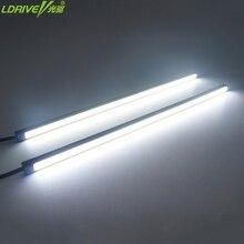 LDRIE 2 шт 12 V 10-24 см выбрать Flip чип Светодиодные ленты для авто светодиодный дневного света внешнего DRL Авто Противотуманные фары Водонепроницаемый