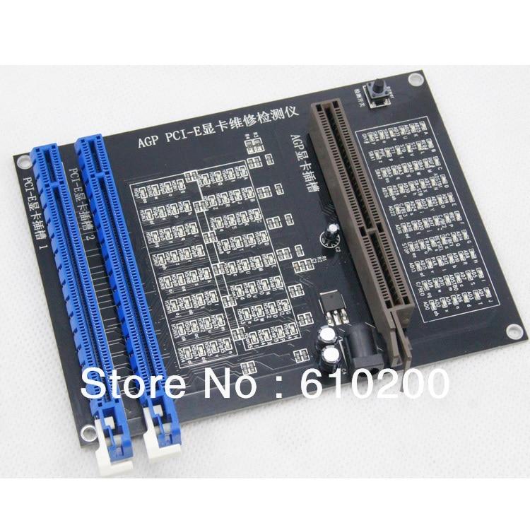 PC AGP PCI-E X16 double usage prise testeur affichage graphique carte vidéo vérificateur testeur carte graphique outil de diagnostic