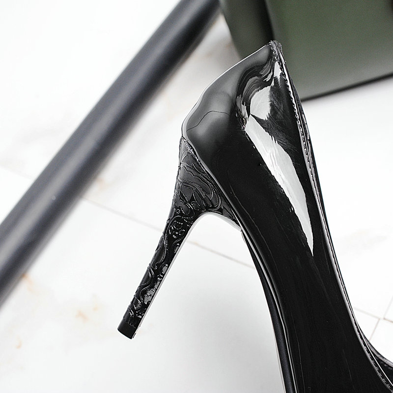 741bde583 Women Thin High Heels Fashion Pointed Toe Party Pumps Shoes Black Wine Red-in  Women's Pumps from Shoes on Aliexpress.com | Alibaba Group