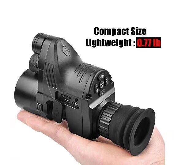 Пхард NV007 Охота цифровой оптическая система ночного видения с Wi-Fi приложение 200 м Диапазон NV область 850nm ИК взгляд ночного видения хорошее ка...