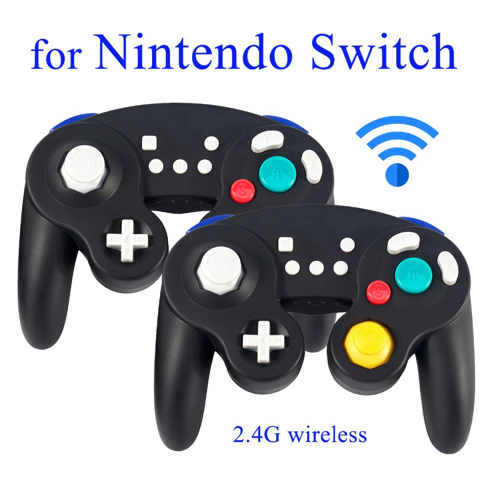 EXLENE 1pc 2pcs 2 4G Rechargeable Wireless Nintendo Switch Controller Gamecube style Rumble Motion Control