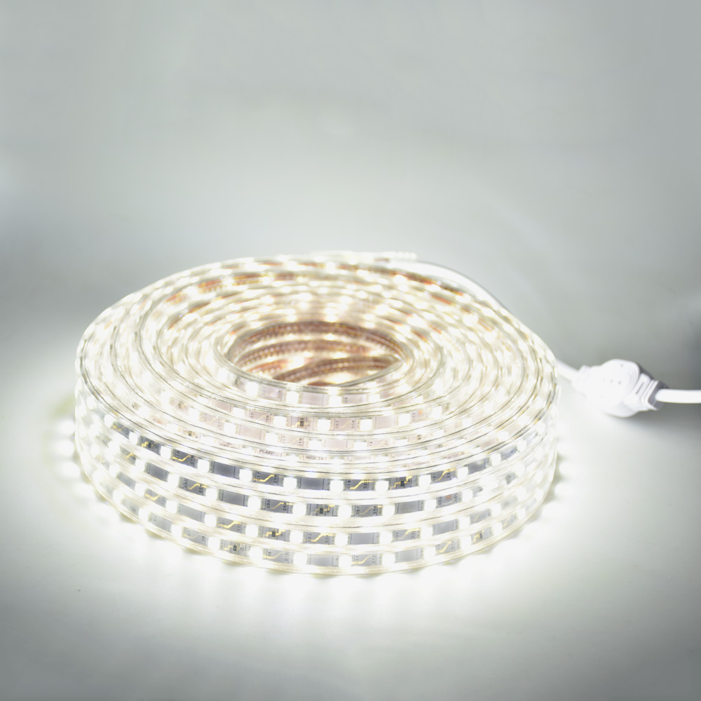 LAIMAIK LED Strip Light Waterproof SMD5050 Led Tape AC220V Flexible Led Strip 60 Leds/Meter Outdoor Garden Lighting With EU Plug