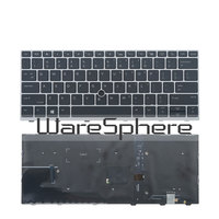 New Original US Backlit Keyboard for HP Elitebook 830 735 G5 with Mouse Point US English Layout