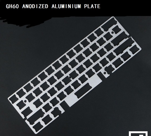 gh60 rs60 positioning anodize aluminium plate 60 mechanical