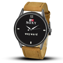 SOXY Fashion Way Ward Watches Popular Leather Band Sport Watch Men Watch Casual Mens Watches Hour
