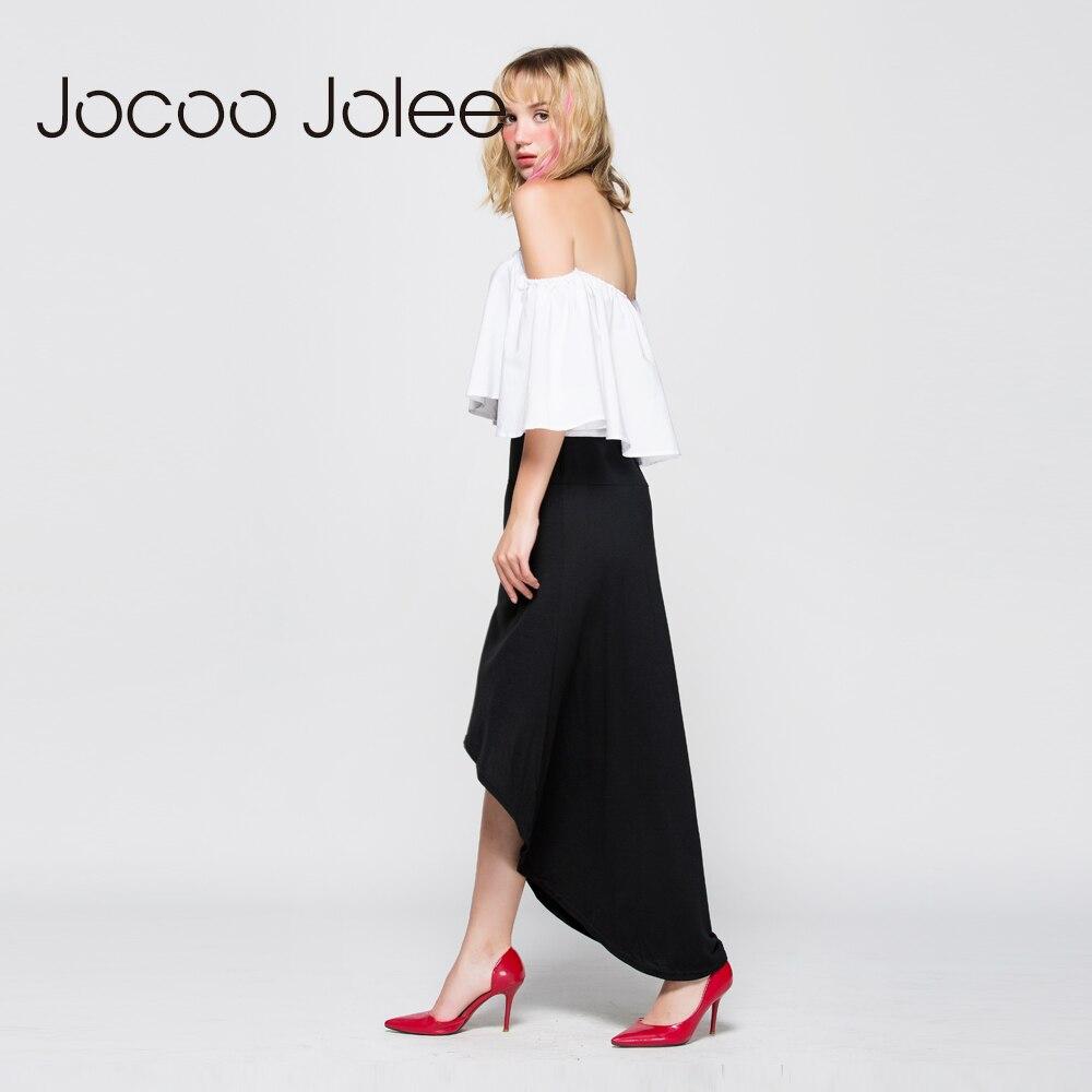 Jocoo Jolee Gratë asimetrike pantallona të gjelbërta Bishti i - Veshje për femra - Foto 3