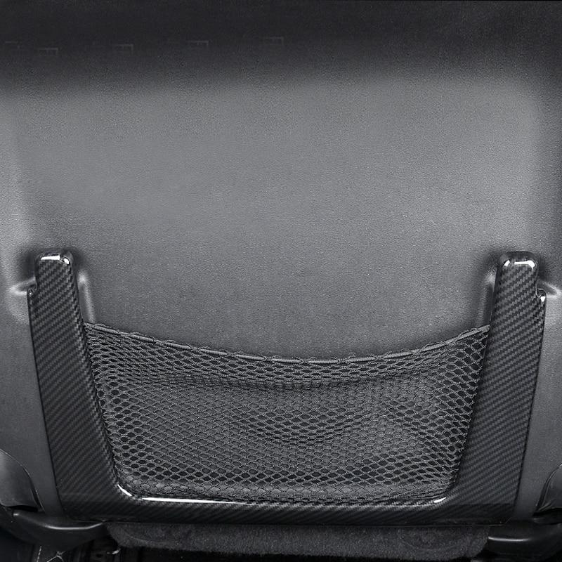 Style de voiture intérieur siège de voiture filet de stockage sac cadre couverture garniture 2 pièces pour Jeep Grand Cherokee 2011-2018