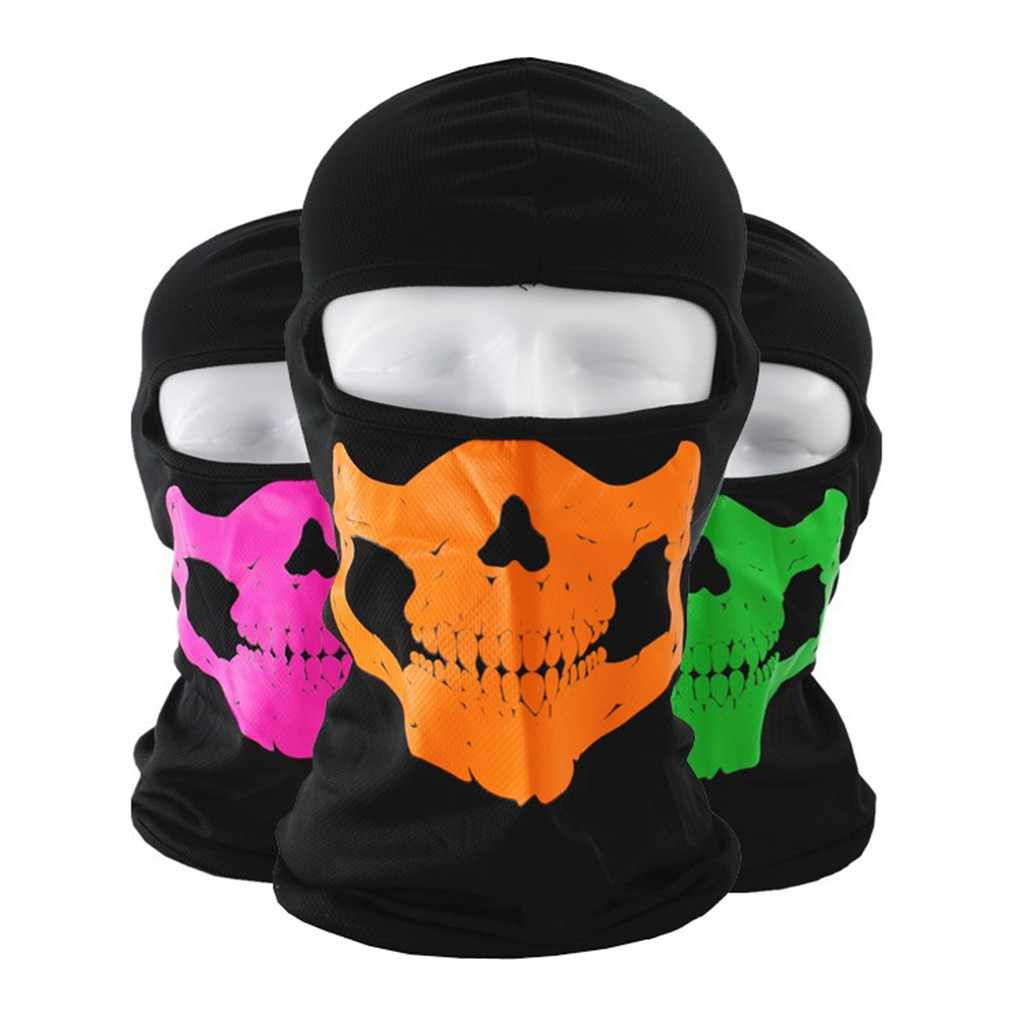 7 Style Tactical Full Face Mask Balaclava Motorcycle Cycling Hunting Outdoor Ski Ghost Skull Masks Costume Helmet #30
