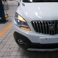 July King LED Daytime Running Lights DRL at Headlight Lamp Eyebrow case for Buick Encore Opel Mokka 1:1, With Yellow Turn Signal