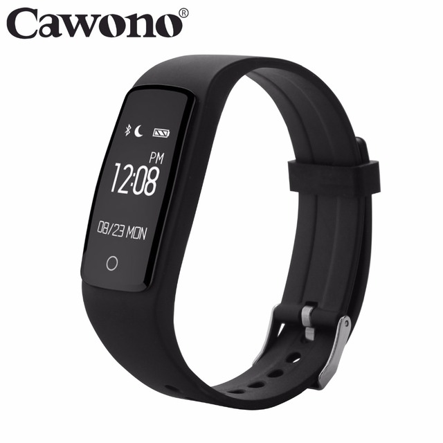 Cawono Smart Bracelet S1 Bluetooth 4.0 IP67 Waterproof Wristband With Heart Rate Fitness Sports Traker for IOS Android iPhone