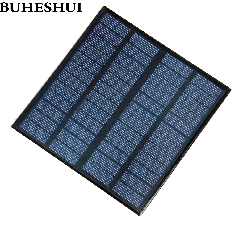 BUHESHUI 12V 3Watt Mini Solar Cell Polycrystalline Solar Panels For Charging 9V Battery 145*145*3MM 5pcs/lot Free Shipping