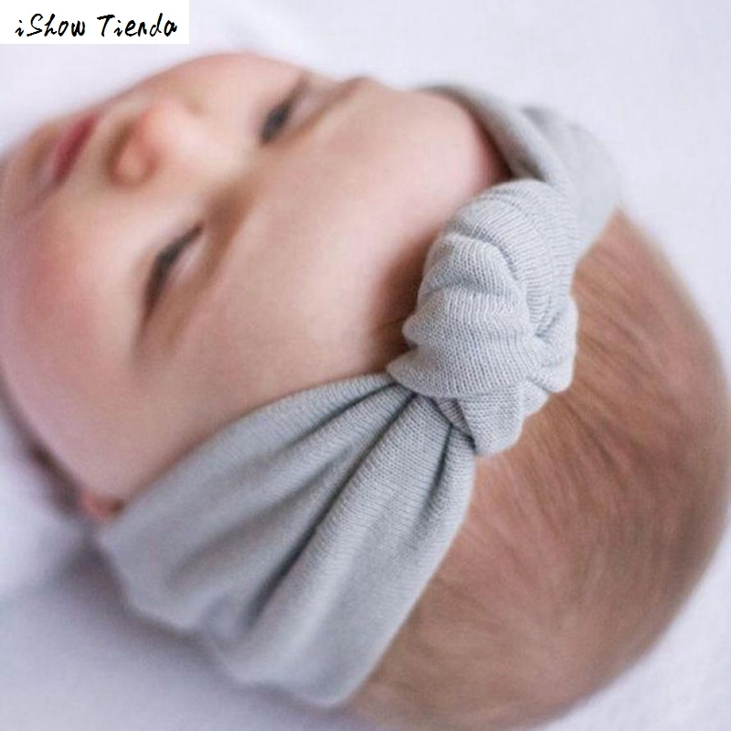 Cotton Baby Turban Headband Enfeites De Cabelo Infantil Accessories Wholesale Head Band Hair #2898