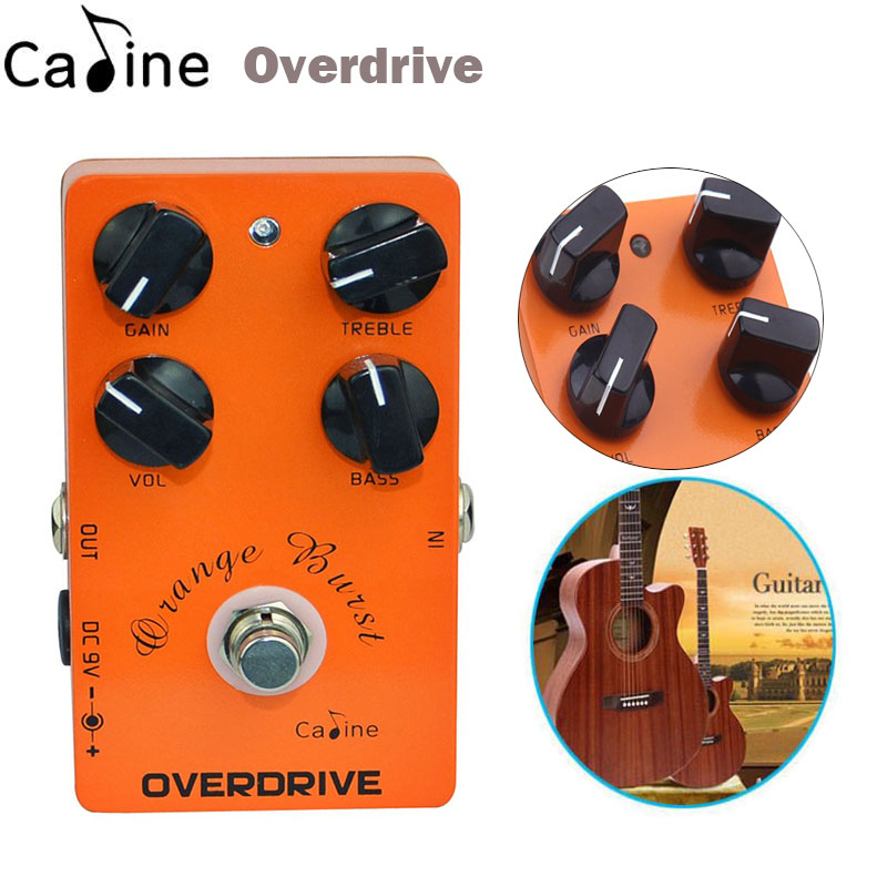 New Caline Guitar Overdrive Effect Pedal True Bypass Guitar Amplifier OD Effect Pedal Guitar parts&Accessories agr 3 greenizer vintage overdrive guitar effect pedal aroma mini analogue guitar accessories with true bypass footswitch