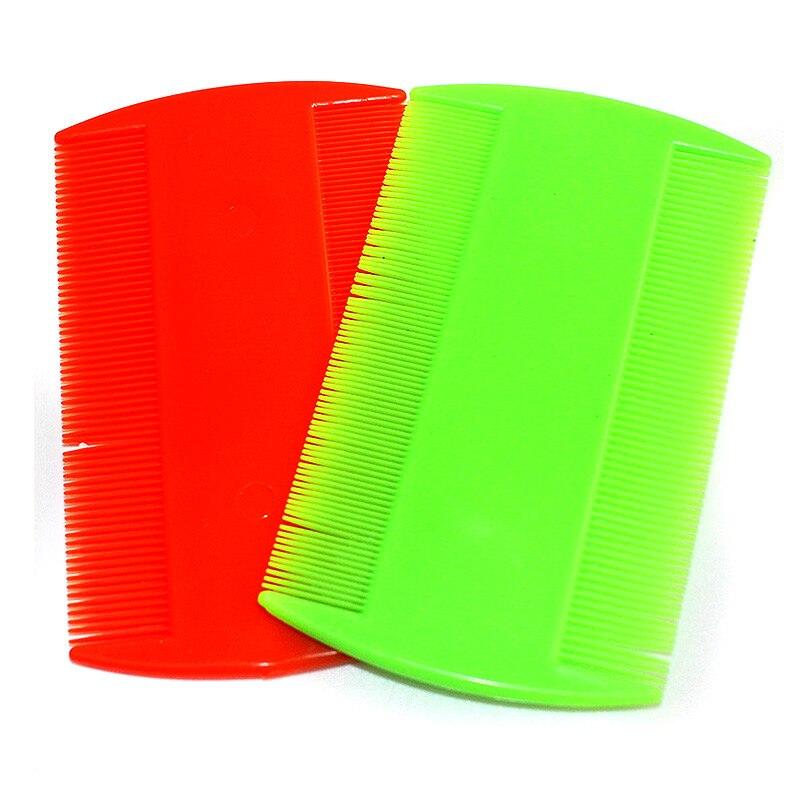 Random 2pcs Portable Narrow Tooth Comb Nit Lice Flea Flat Brush Cootie Delousing Rid Head Lice Anoplura Dandruff Beauty Combs H