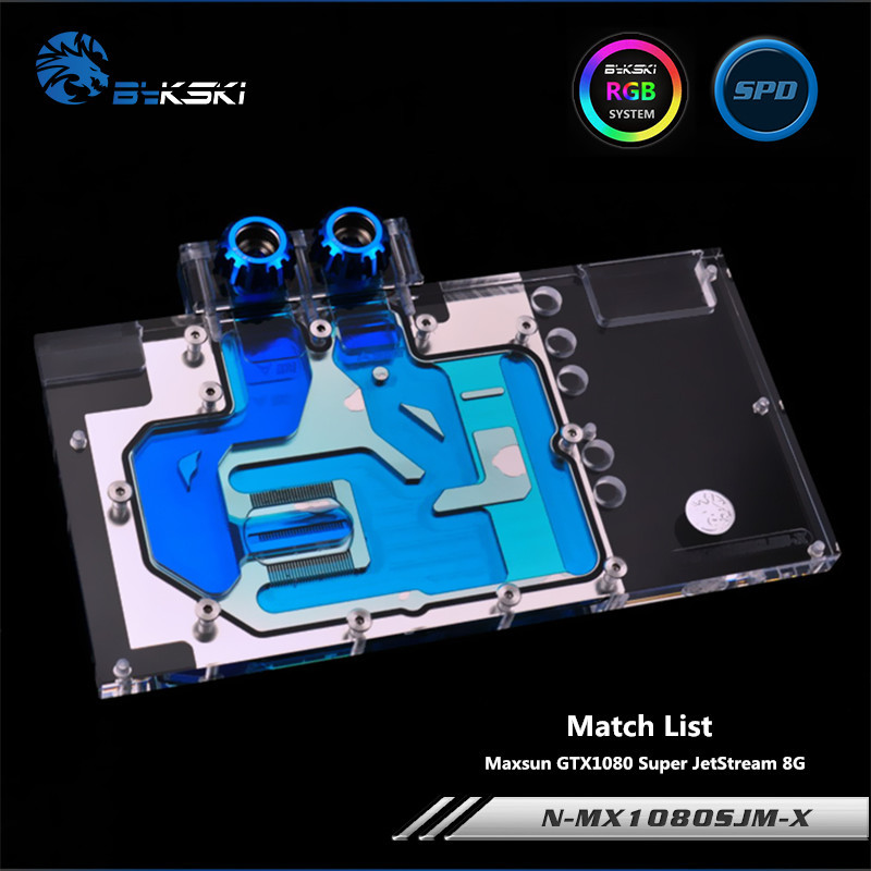 Bykski Full Coverage GPU Water Block For Maxsun GTX1080 Super JetStream Graphics Card N-MX1080SJM-X bykski full coverage gpu water block for maxsun gtx1080 super jetstream graphics card n mx1080sjm x