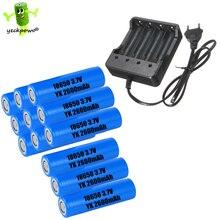 Banco de Potência Alta Qualidade!! 12 Pcs 18650 DA Bateria Recaharegeable Lanterna Li-ion 2600 Mah 3.7 V & 1 Carregador