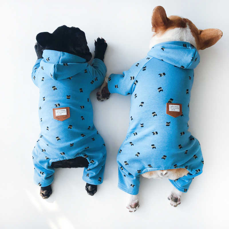 Warm Winter Dog Clothes Jumpsuit Chihuahua Poodle Bichon Schnauzer Pug French Bulldog Clothing Small Dog Pajamas Costume Outfit