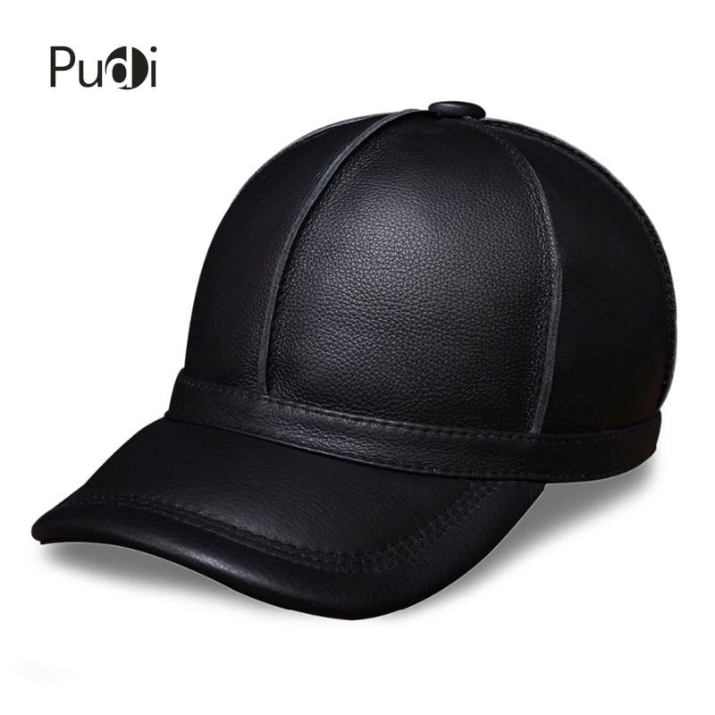 HL028 echtes Leder Männer Baseballmütze Hut neue Marke Männer echtes Leder Erwachsene feste einstellbare Hüte / Kappen