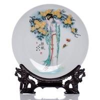 BEST business birthday present handicraft Vintage CHINESE girl porcelain home OFFICE Decor art plate Decoration