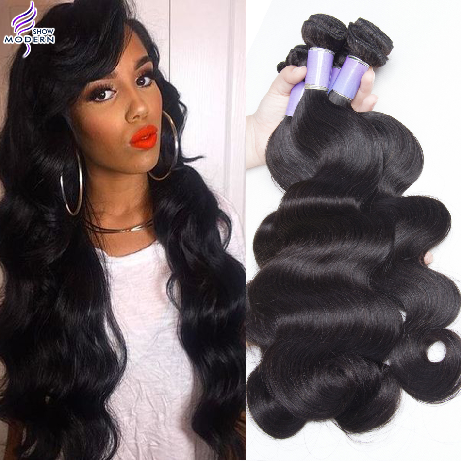 modern show hair products malaysian virgin hair body wave 4 bundles unprocessed virgin malaysian body wave human hair weaves on aliexpress |