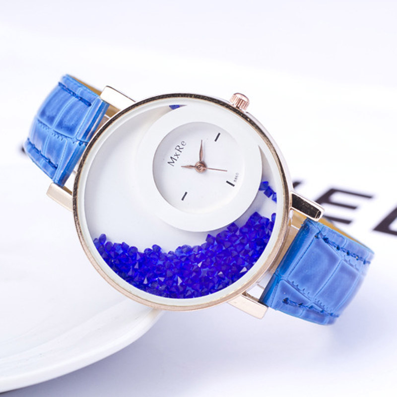 Quartz Watch Couple Leather Quicksand Watch Fashion Romantic Woman Relogio Faminino Zegarek Damski