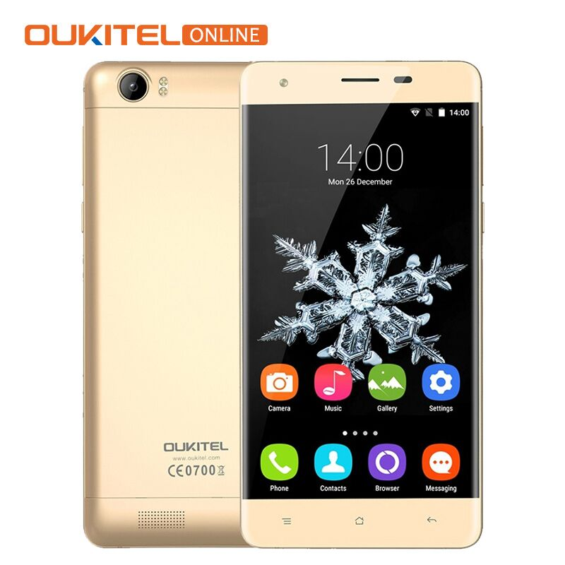 6000mAh Battery Oukitel K6000 5.5″ HD 4G LTE Mobile Phone Android 6.0 MTK6735P 1280×720 2G RAM 16G ROM GPS OTG 8MP Smartphone