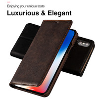 Luxury Retro Case For IPhone X Cases Classic Business Flip PU Leather Case Cover For Iphone