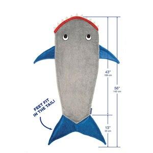 Image 5 - Inverno tubarão sereia dormir cobertor swaddle macio lã crianças saco de dormir presente de aniversário natal para crianças