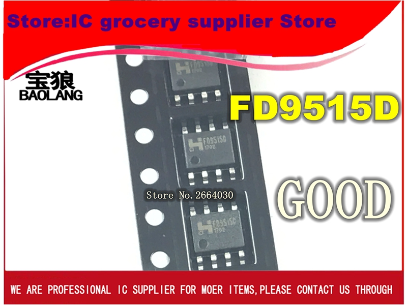 100PCS/LOT 100% New and Original FD9515B FD9515 SOP8 IC 10pcs 20pcs 50pcs 100pcs 100%new original ad8022arz reel7 ad8022arz sop8 high speed operational amplifier chip