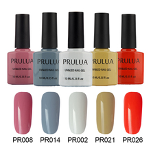 Prulua 10ML 84 colors nail varnish color bottles Nail gel Polish UV Led Long Lasting Gel DIY Art