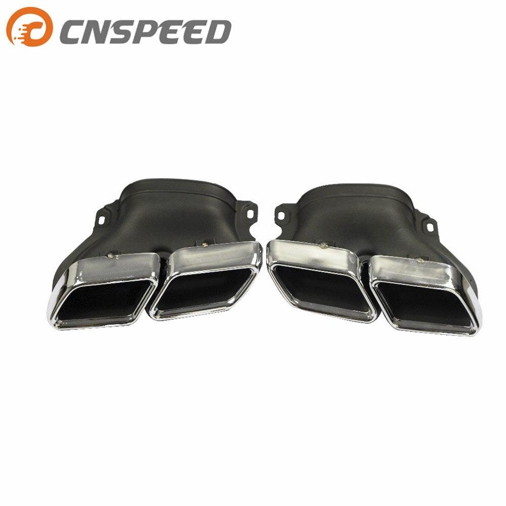 CNSPEED 1 Par Carro 304 Dicas Silenciador Em Aço Inoxidável tubo de Escape Tubo de Escape Modificado garganta cauda Para Mercedes Benz C-classe W205