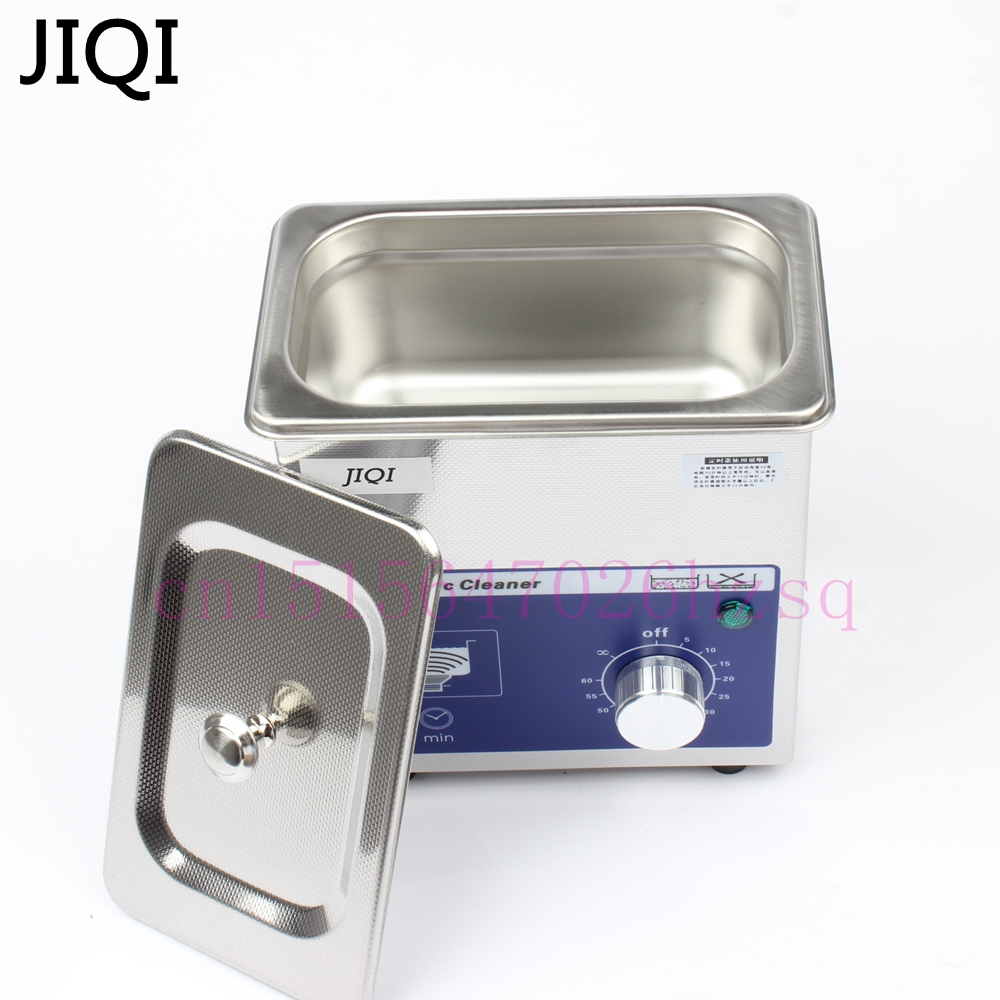 JIQI 80w small Ultrasonic cleaner timer 0.7L 40KHZ for Household glasses jewelry Dental Watch Toothbrushes Cleaning Tool mini ultrasonic cleaning machine digital wave cleaner 80w household glasses jewelry watch toothbrushes bath 110v 220v eu us plug
