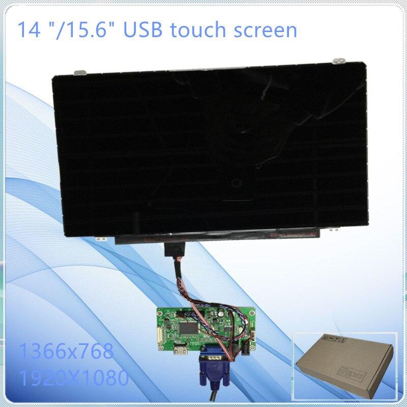 """14.0 """"/15.6 inch LCD USB מסך מגע + מכלול צג מגע USB לוח הכונן/אביזרים"""