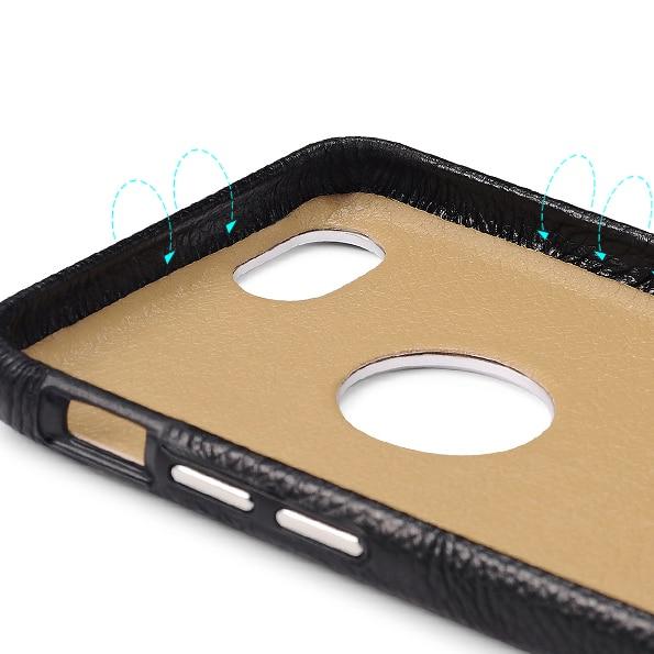 ICARER affärsstil Retro äkta Litchi mönster läder kort plånbok - Reservdelar och tillbehör för mobiltelefoner - Foto 5