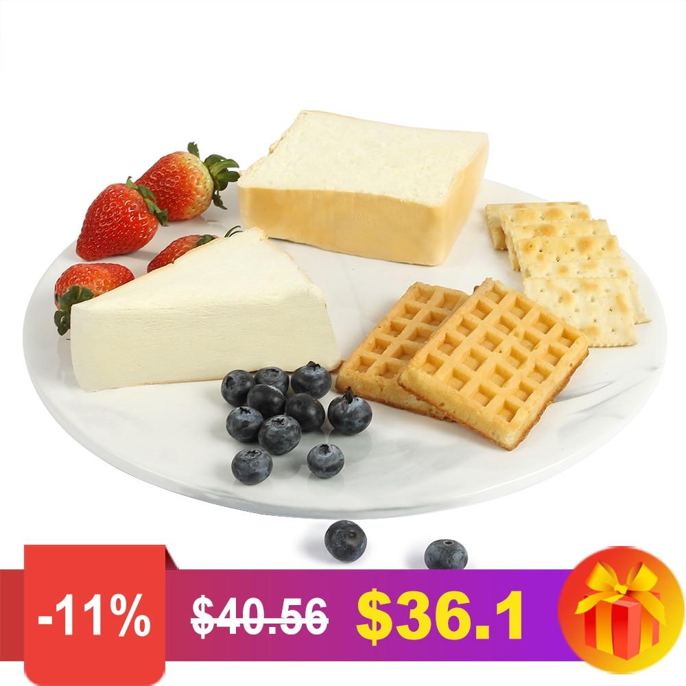Assiettes à Dessert en céramique de noël assiettes à gâteau en marbre assiettes à dîner vaisselle plateau en porcelaine assiettes et assiettes Assiette
