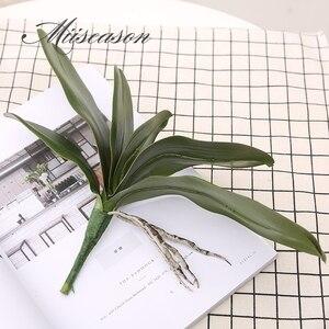 Image 4 - 1 adet Phalaenopsis yaprak yapay bitki yaprağı dekoratif çiçekler yardımcı malzeme çiçek dekorasyonu orkide yaprakları gerçek dokunmatik