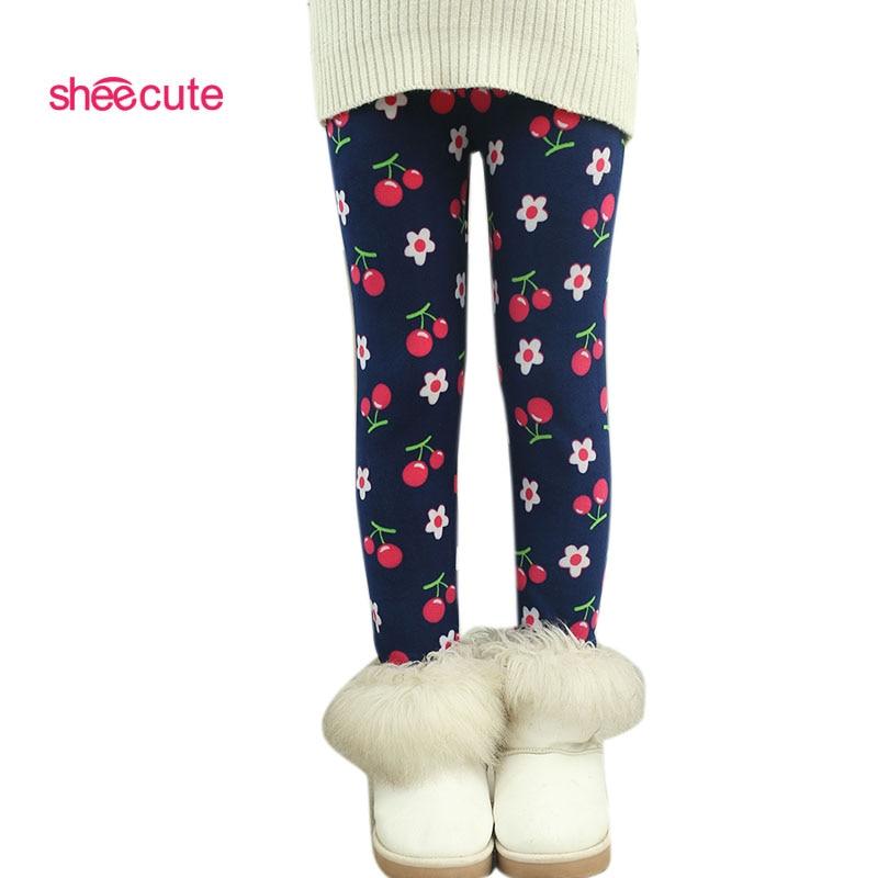 New Arrive winter girls' leggings,Children's 3-10 Y Warm Pant All-Match Fleece thickening Leggings Children's Thick Pants