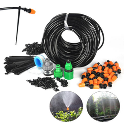 Auto/Manual DIY Watering Irrigation System Sprinkler Drip Timer 25m Garden Hose